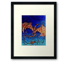 Lava dunked Dragon Framed Print