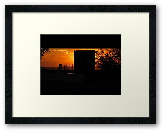 Red Night-Under I.B. Perrine Bridge in Twin Falls, ID, USA by Brenda Dahl