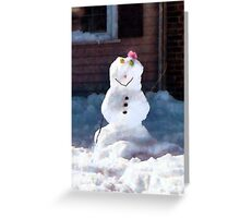Happy Snowman Greeting Card