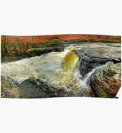 Lower Falls Aysgarth -  Panorama - HDR Poster
