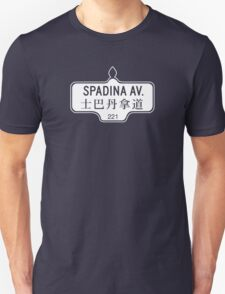 Spadina Avenue, Toronto Street Sign, Canada - Contrast Version T-Shirt