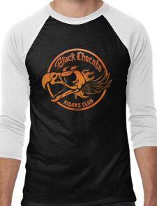 Black Chocobo Riders Club Men's Baseball ¾ T-Shirt