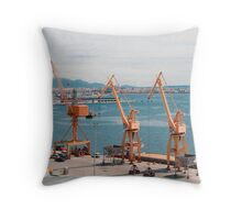 Iron Giraffes - Palma de Mallorca Throw Pillow