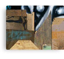 Wood Assemblage Canvas Print