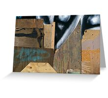 Wood Assemblage Greeting Card