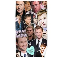 Chris Hemsworth/Thor Collage Poster