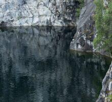 Lake in Canyon Sticker