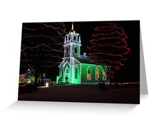 Church Decorated for Christmas Greeting Card