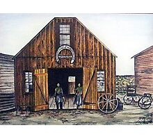 OAR AND BURKE BLACKSMITHING AND WAGONWORKS Photographic Print