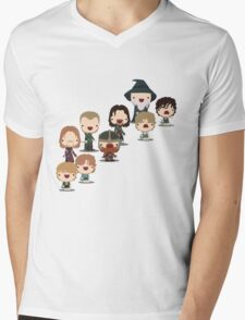 The Fellowship of the Ring Mens V-Neck T-Shirt