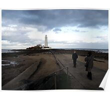 St. Mary's lighthouse, Whitley Bay Poster
