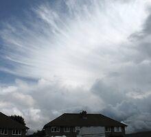 Fan-shaped cumulonimbus by Jane Corey