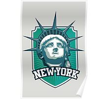 NEW YORK badge Poster