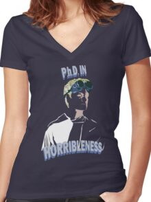 Proof of Horribleness Women's Fitted V-Neck T-Shirt