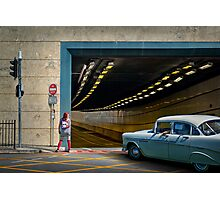 Downtown Drive-by Photographic Print