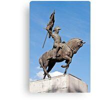 Manuel Belgrano statue. Canvas Print