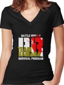 Team Kawada (Battle Royale) Women's Fitted V-Neck T-Shirt