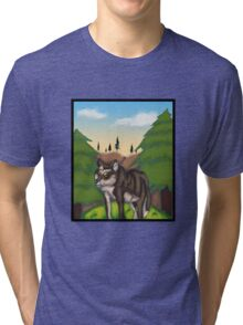 Wolf in the Mountains Tri-blend T-Shirt