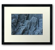 abstract stone background Framed Print