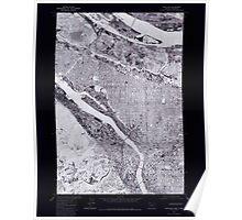 USGS Topo Map Oregon OR Portland 281134 1975 24000 Inverted Poster