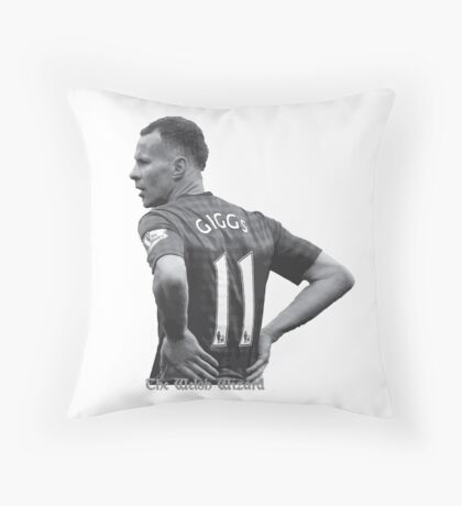 The Welsh Wizard Ryan Giggs Throw Pillow