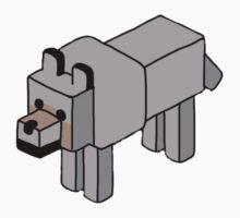 Minecraft Wolf Design Kids Tee
