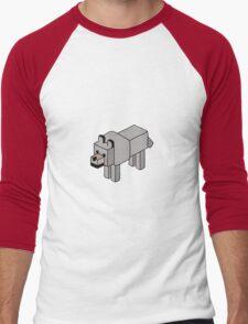 Minecraft Wolf Design Men's Baseball ¾ T-Shirt