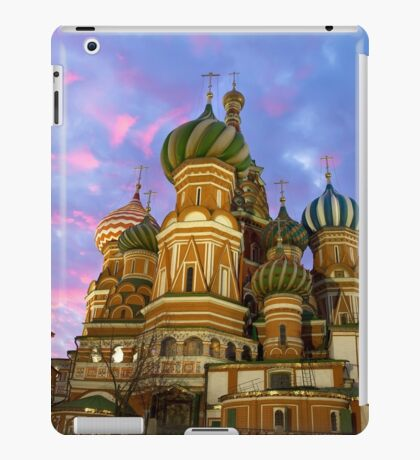 St. Basil church in Moscow, night view iPad Case/Skin