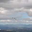 F/A -18 approaching Mt Ainslie by Peter Holland