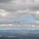 F/A -18 approaching Mt Ainslie by peterhau