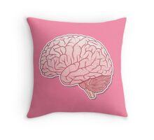 pinky brain Throw Pillow