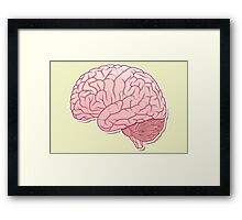pinky brain Framed Print