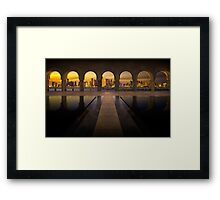 Archway to Doha Framed Print