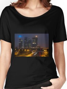 skyscrapers in fog Women's Relaxed Fit T-Shirt