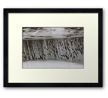 Marsh Grass Reflections with Ice 1 Framed Print