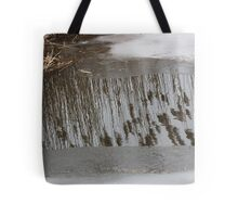 Marsh Grass Reflections with Ice 17 Tote Bag