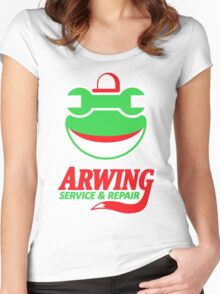 ARWING SERVICE & REPAIR Women's Fitted Scoop T-Shirt