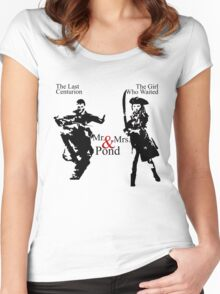 Mr. & Mrs. Pond - Doctor Who Women's Fitted Scoop T-Shirt
