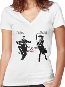 Mr. & Mrs. Pond - Doctor Who Women's Fitted V-Neck T-Shirt