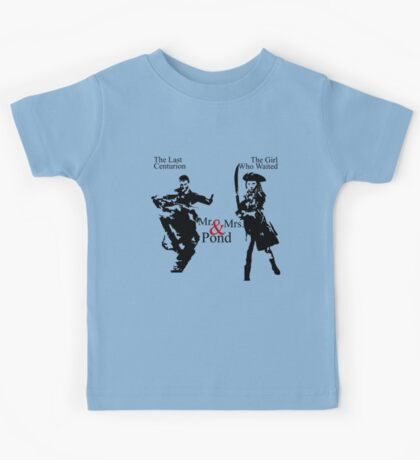 Mr. & Mrs. Pond - Doctor Who Kids Tee
