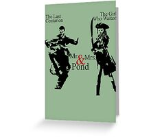 Mr. & Mrs. Pond - Doctor Who Greeting Card