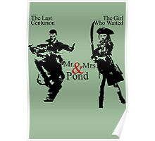 Mr. & Mrs. Pond - Doctor Who Poster