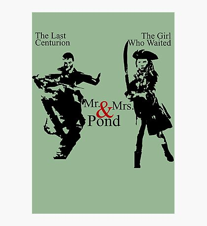 Mr. & Mrs. Pond - Doctor Who Photographic Print