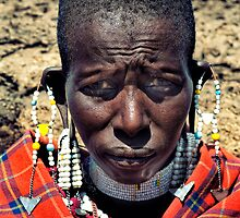 Portrait of a Maasai Woman by Amyn Nasser