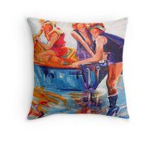 Jump Aboard Throw Pillow