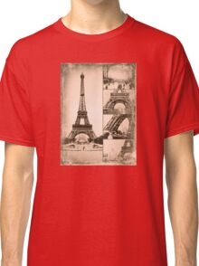 Eiffel Tower Paris Vintage Collage Classic T-Shirt