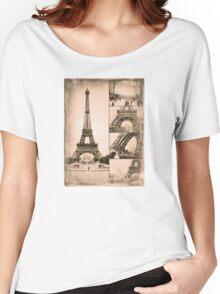 Eiffel Tower Paris Vintage Collage Women's Relaxed Fit T-Shirt