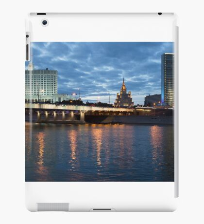 Moscow Russia City Center View at Night iPad Case/Skin