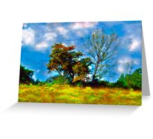 Trees - Fields and Blue Skies Greeting Card