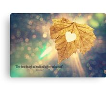 I Love Thee Canvas Print
